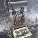 Necklace HARPIST in black stainless steel 316l