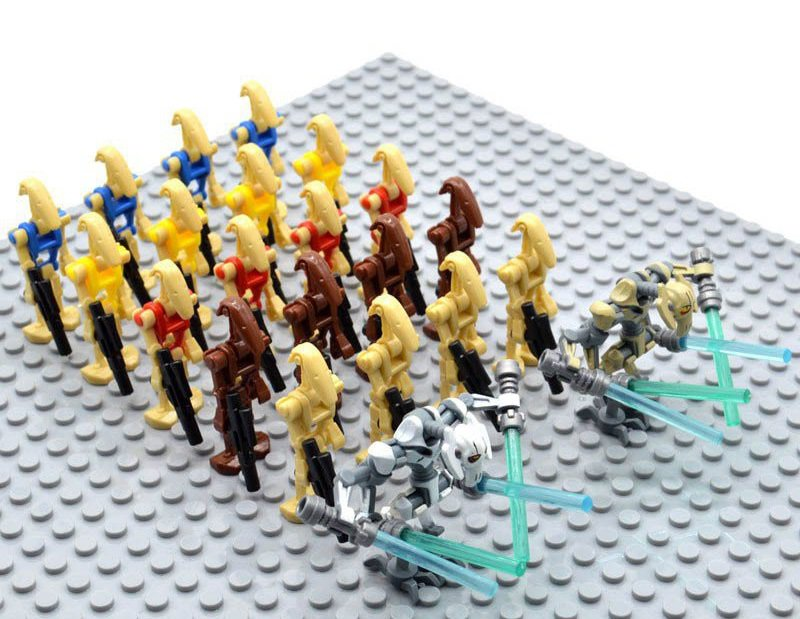 Star Wars Battle Droids with General Grievous Minifigures Building Block Figures Set