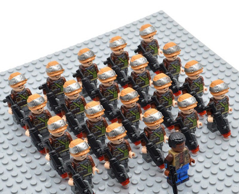 Star Wars Rebel Troopers with Finn Minifigures China Building Block Figures Set SW72