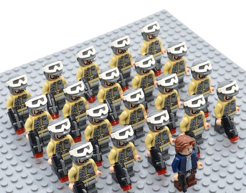 Star Wars Rebel Troopers with Han Solo Minifigures China Building Block Figures Set SW68