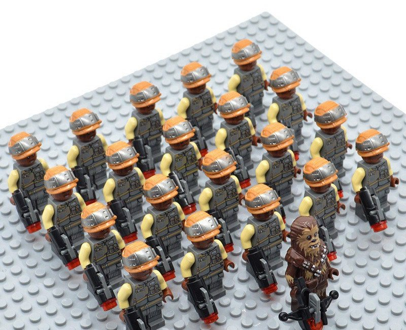 Star Wars Rebel Troopers with Chewbacca Minifigures China Building Block Figures Set SW65