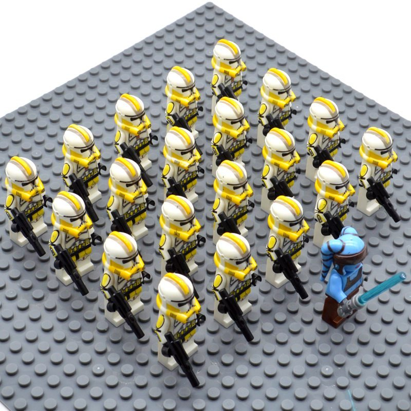 Star Wars 327 Star Corp with Aayla Secura Minifigures China Building Block Figures Set SW33