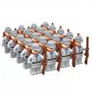 US Civil War Southern Confederate Soldiers Set Minifigures Building Block Figures
