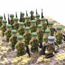 WW2 US Army Infantry Soldiers Minifigures Building Block Figures Set B21027US