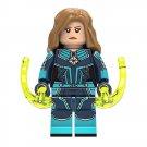 Captain Marvel Carol Danvers Minifigure Bricks Block Figure Lego Compatible Toy XH1014