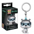 Rick and Morty Snowball Funko Pocket POP Keychain Action Figure Minifigure Toy