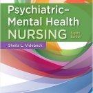 Psychiatric-Mental Health Nursing 8th Edition by Videbeck 978-1975116378