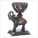 Elephant with Basket Candleholder