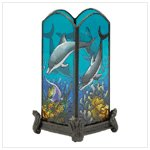 Dolphin Painted Candle Holder