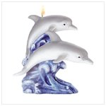 Dolphin On Wave Candle