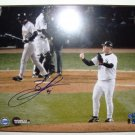 BOBBY JENKS AUTOGRAPHED 2005 WORLD SERIES GAME FOUR MOUND CELEBRATION - STEINER