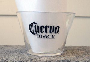 Lot of 25 JOSE CUERVO BLACK Tequila Clear Plastic 6oz Party Drink Cups NEW