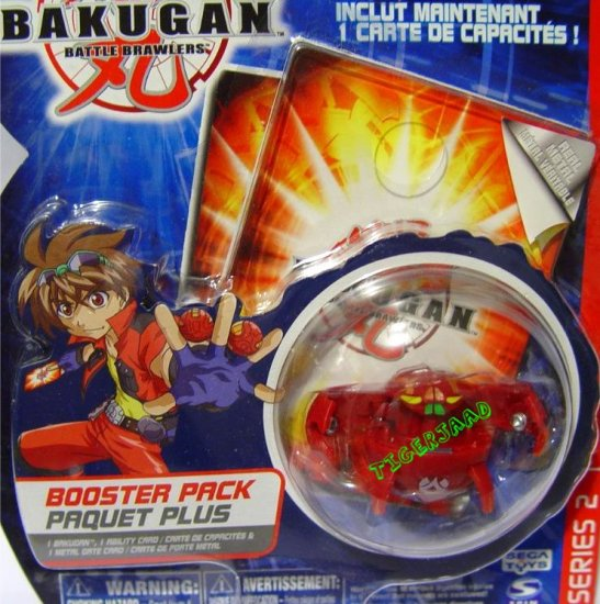 Bakugan Red TerrorClaw Series 2 @Not in Production@ Very Rare