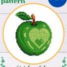 "Cross stitch pattern ""Apple of love"" PDF"