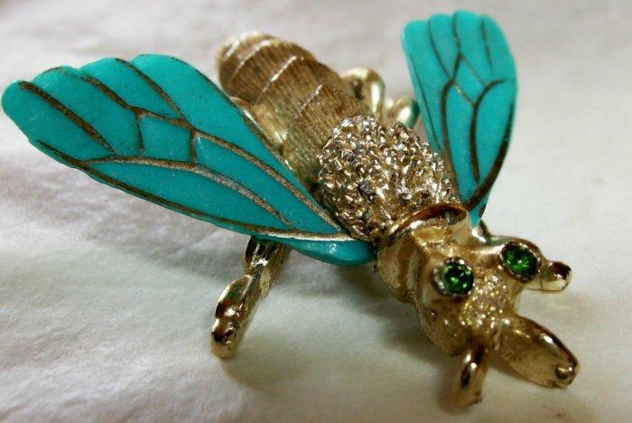 Cute lucite bug figural pin
