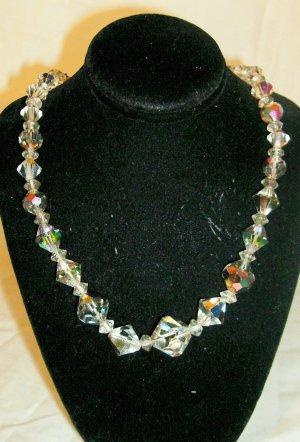 Vintage AB bead necklace