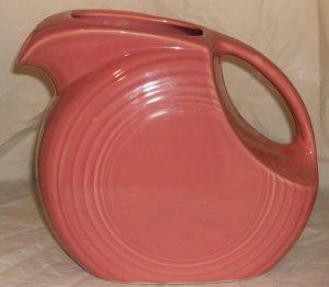 Fiesta Pink Salmon Disc Pitcher