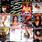 Playboy  Magazine, 1985 Partial lot, 11 complete issues with Centerfolds.  Very Good Condition!