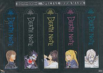 Death Note Special Bookmarks ~ set of 5