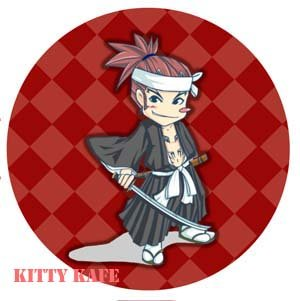 Pin Badge/Button Bleach: Renji (501)