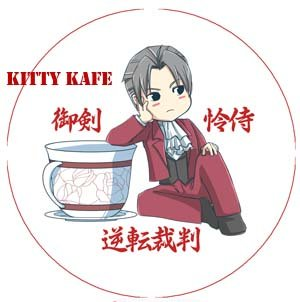 Pin Badge/Button Gyakuten Saiban/Phoenix Wright: Miles/Mitsurugi (501)