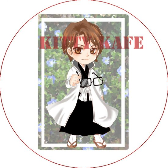 Pin Badge/Button Bleach: Aizen (Zen)