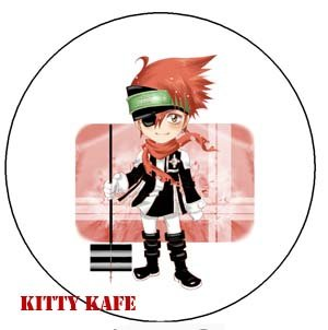 Pin Badge/Button D, Gray-man: Lavi (Zen)