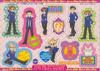 Ouran High School Host Club Furuku Magnet Sheet