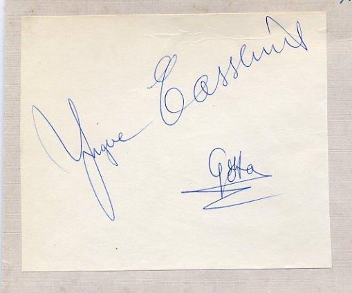 1957 Ice Hockey World Champion YNGVE CASSLIND Autograph