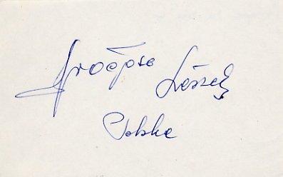 1960 Rome Boxing Bronze LESZEK DROGOSZ  Autograph