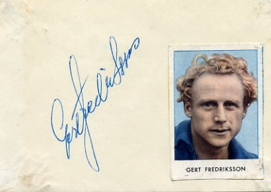1948-60 Six-Time Kayak Champion GERT FREDRIKSSON Autograph