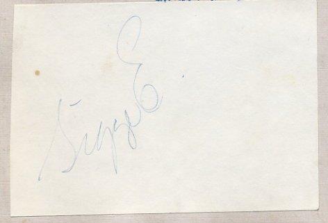 1956 Cortina Speed Skating Gold SIGVARD ERICSSON Autograph 1950s