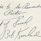 1948-52 Basketball Gold BOB KURLAND Autograph Note Signed 1981