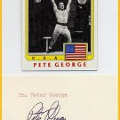 1948-52-56 Olympic Weightlifting PETER GEORGE Autograph 1982 & Card