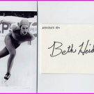 1979 Speed Skating World Champion BETH HEIDEN Signed Card & Pict