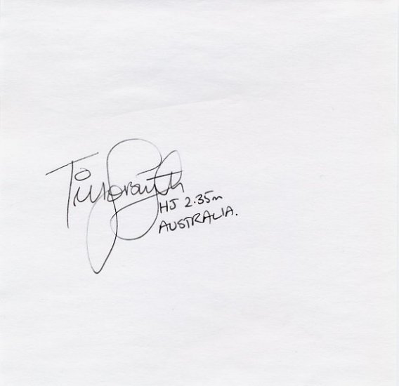 1992 Barcelona High Jump Bronze TIM FORSYTH Autograph