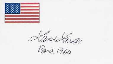 1960 Rome Swimming Gold LANCE LARSON Hand Signed Card
