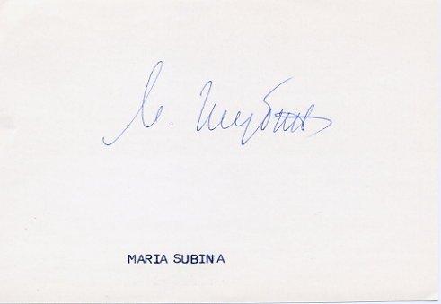1960 Rome Canoeing Gold MARIYA SHUBINA  Autograph