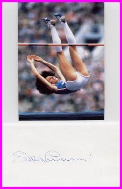 1980 Moscow High Jump Gold & WR SARA SIMEONI Autograph & Pict