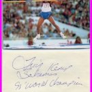 1995 High Jump World Champion  TROY KEMP Autograph & Pict