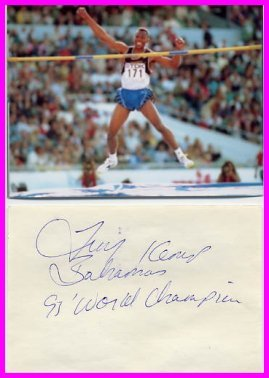 1995 High Jump World Champion  TROY KEMP Autograph & Pict