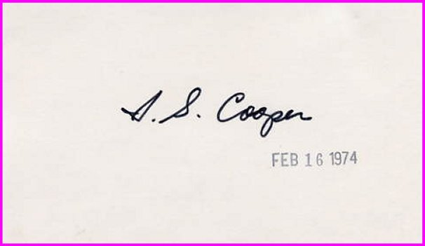 (Parkinson Disease) American Neurosurgeon IRVING COOPER Autograph 1974