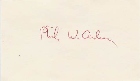 1977 Nobel Physics PHILIP ANDERSON Hand Signed Card