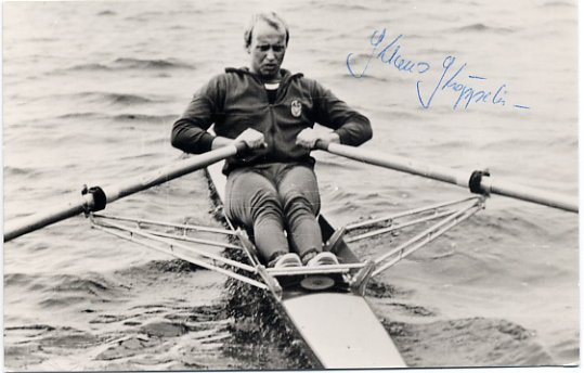 1980 Moscow Rowing Gold KLAUS KROPPELIEN Hand Signed Photo