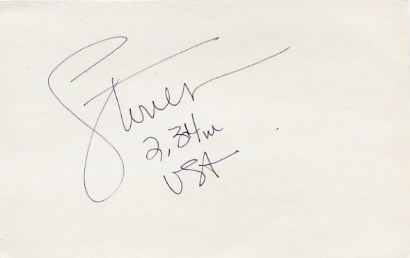 1972 Munich & 1976 Montreal High Jump Medalist & WR DWIGHT STONES Autograph