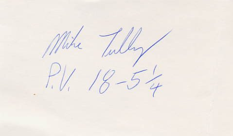 1984 Los Angeles Pole Vault Silver MIKE TULLY Hand Signed Card