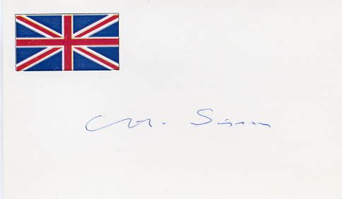 British Poet CHARLES HUBERT SISSON Hand Signed Card