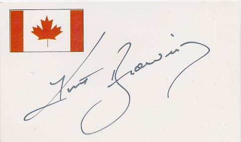 Four-Time Figure Skating World Champion KURT BROWNING Hand Signed Card