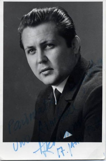 Famous Estonian Tenor HENDRIK KRUMM Hand Signed Photo 1968