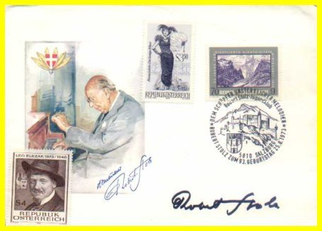 Austrian Composer & Conductor ROBERT STOLZ Hand Signed FDC